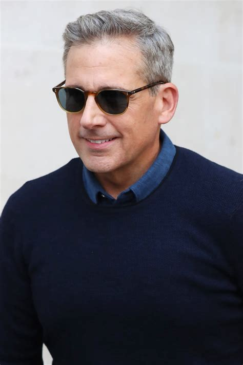 best steve carell steve carell debuts gray hair goes