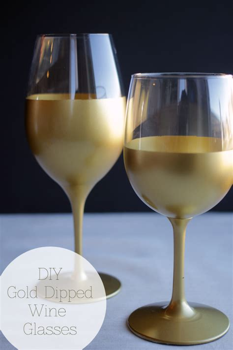 gold dipped wine glasses handmade in the heartland