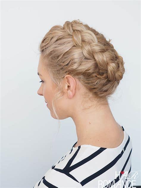 new braid tutorial the high braided crown hairstyle my favourite braid video tutorial curly hair crown braid