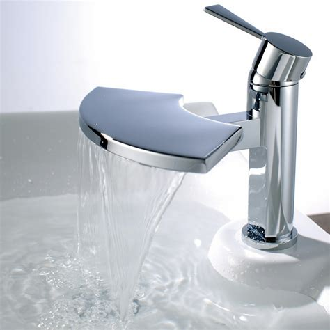 bathroom basin mixer taps uk blade waterfall bathroom basin sink mixer tap b6005 ebay