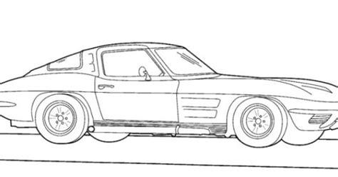 corvette 1983 coloring page corvette pinterest