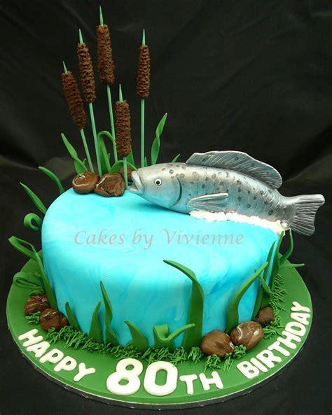 Fish Cake 80th birthday fish cake cakecentral