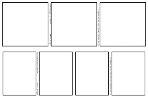 6 panel comic template comic templates 3 panel and 4 panel by rcdg on