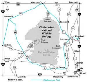 okefenokee sw map of okefenokee sw maps images