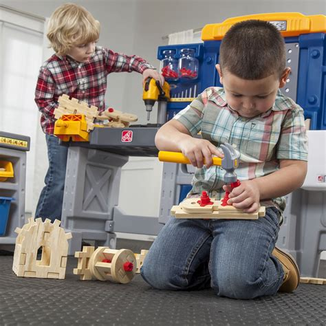 just benches just like home pro play workshop utility bench kids pretend play step2