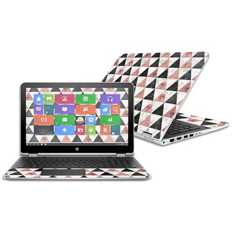 Custom Hp Marble Hardcase skin decal wrap for hp pavilion x360 15 6 quot 2016 marble pyramids ebay