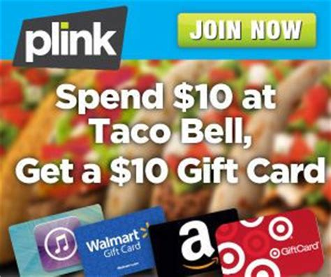 Where Can I Buy Taco Bell Gift Cards - plink spend 10 at taco bell get 10 gift card southern savers