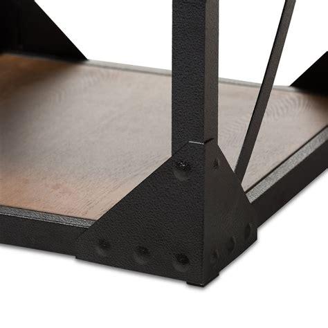black iron wood side table modern furniture brickell
