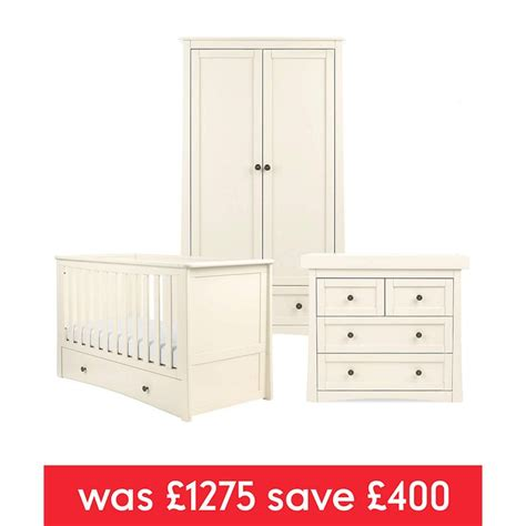 mothercare baby bedroom furniture mothercare bloomsbury 3 piece furniture set ivory new