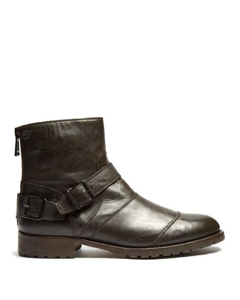 belstaff boots mens belstaff trialmaster leather boots in black for save