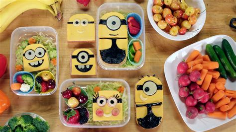 Delight your kids with adorable sandwiches: Minions, PB&J