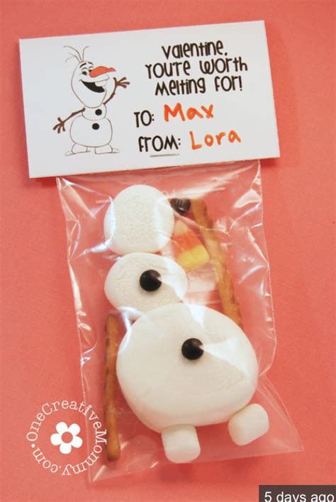 valentines for classmates frozen olaf valentines free printable crafts
