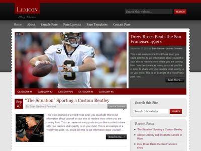 Lexicon Child Theme Wordpress Journalist Theme For Celebrity Magazine Sports News Tech High School Sports Website Templates