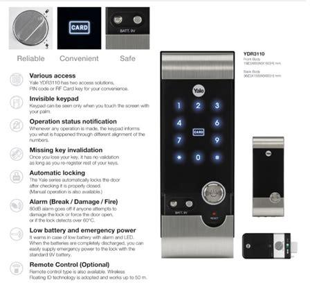 Jual Alarm Yale jual beli kunci digital yale ydr 3110 baru kunci gembok
