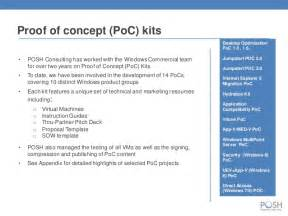 Proof Of Concept Template by Posh Consulting Inc Overview
