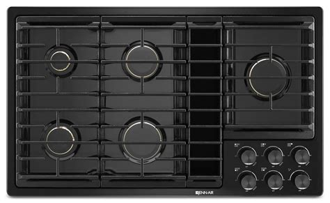 jenn aire cooktops jenn air 36 quot jx3 gas cooktop with downdraft jgd3536gb