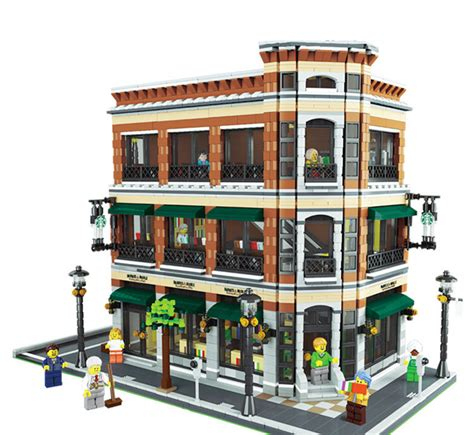 Lego City Theater Decool modular building barnes noble starbucks store lepin