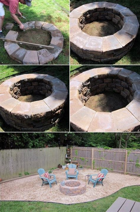 how to make a simple fire pit in your backyard how to build a simple fire pit home pinterest