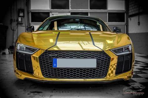 Auto Tuning Dortmund by Neuer Audi R8 Mit Gold Chrom Folierung By Check Matt
