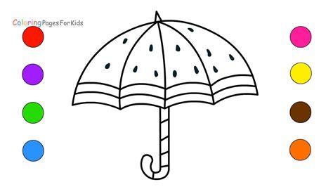 rainbow umbrella coloring page 171 funnycrafts rainbow umbrella coloring pages for kids children toddlers