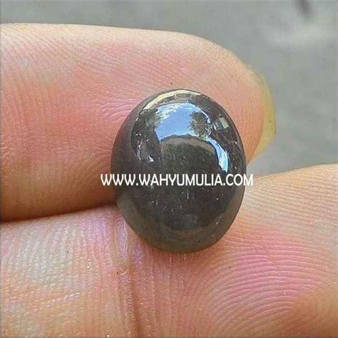Batu Cat Eye batu mata kucing silimanite cat eye hitam asli kode 265