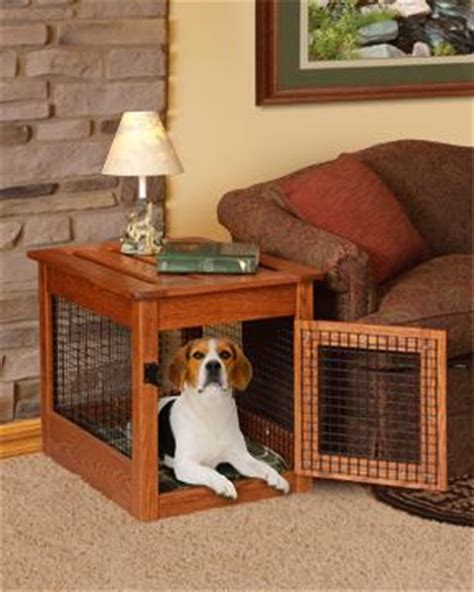 amish  dog crate  table