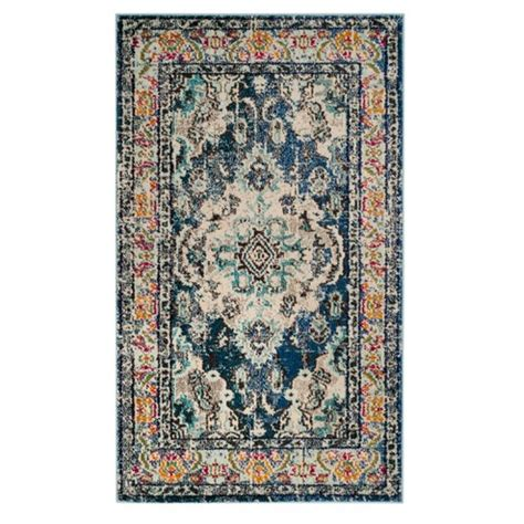 4 x5 rug navy light blue medallion loomed area rug 4 x5 7 quot safavieh target