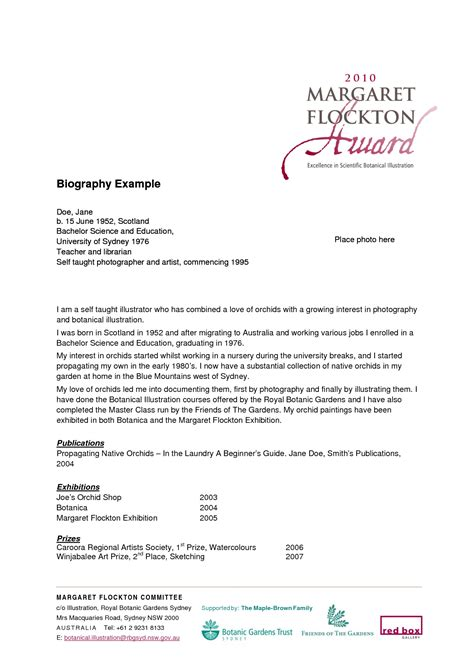 how to write a personal biography template best photos of personal biography letter personal bio