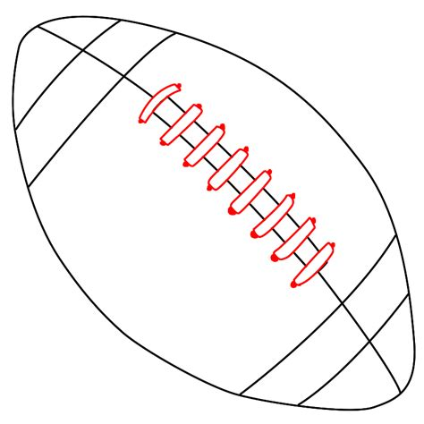 football drawing template how to draw a football draw central