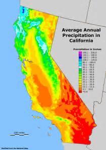california precipitation map geology cafe