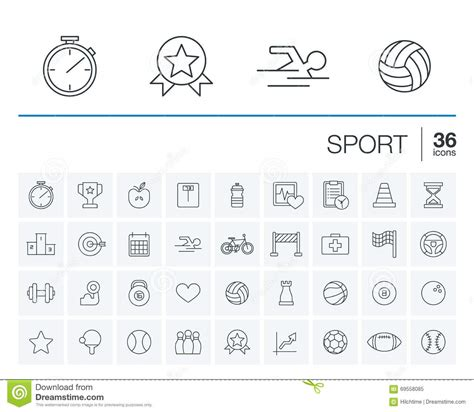 graphic design elements quiz sport and fitness vector icons cartoon vector