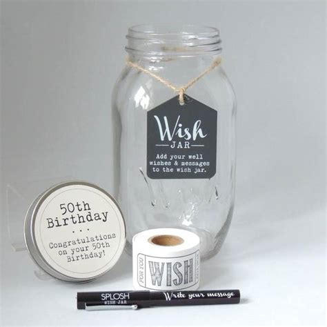 wish in a jar books 50th birthday wish jar special occasions