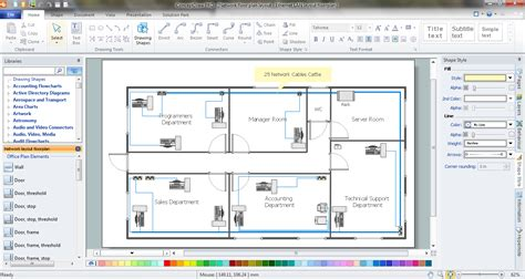 network floor plan layout network visualization