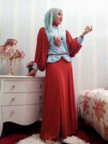 Grosir Polka Biru Clmciez baju muslim gamis foto gambar baju muslim