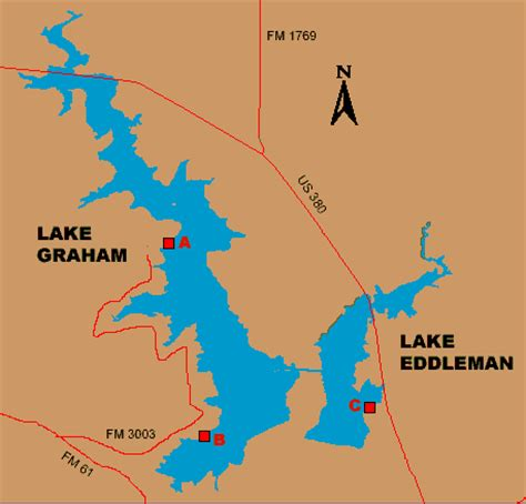 map of graham texas access to lake graham