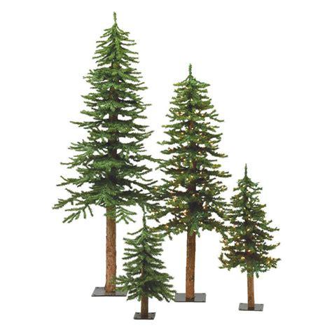 artificial christmas tree 3 pcs sets vickerman bark alpine unlit medium tree set trees at hayneedle