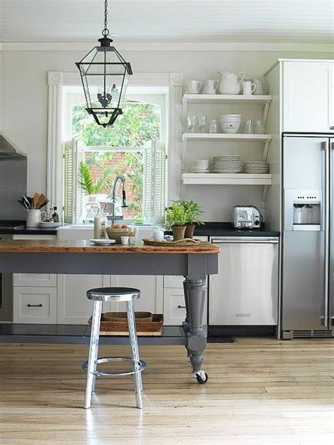 freestanding island open shelves kitchens