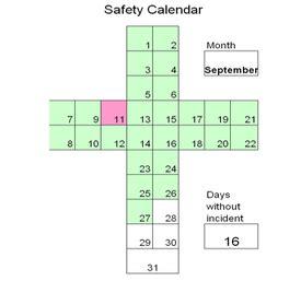 safety calendar template kaizen safety cross kaizen news kaizen supplies