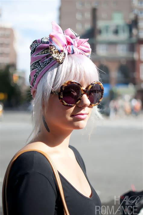 Street Style Hair Scarves | street style hair pink scarf turban nyc hair romance