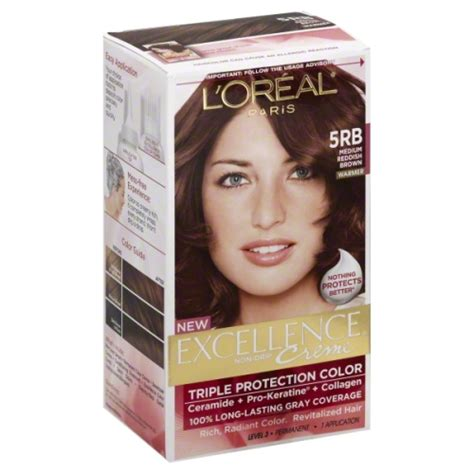 5rb hair color l oreal excellence 5rb medium reddish brown