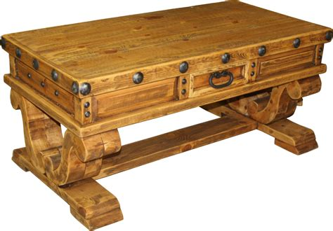don carlos coffee table durango trail rustic furniture