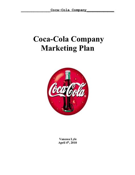 layout strategy of coca cola coca cola marketing plan