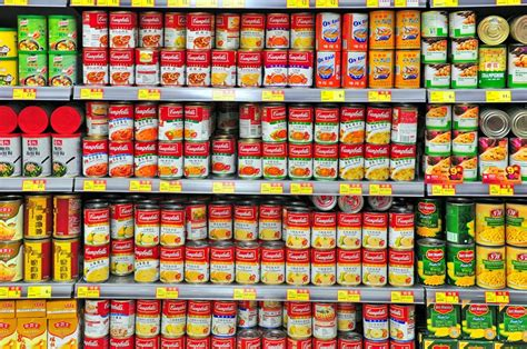 Average Shelf Of Canned Foods by The Canned Foods That The Shelf