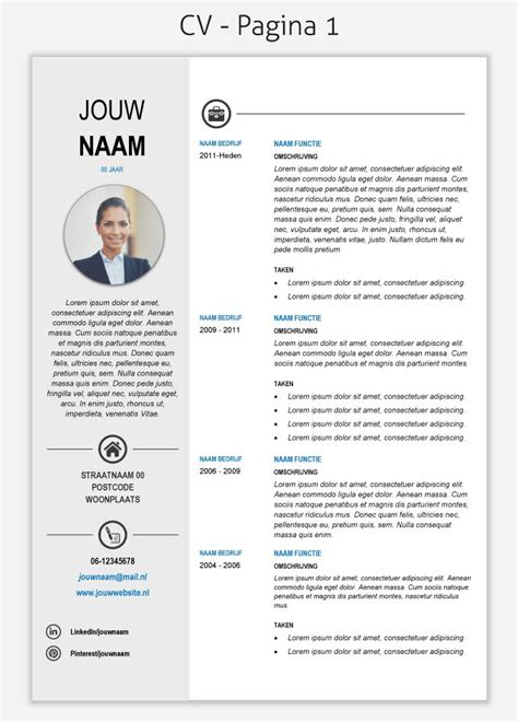 Cv Sjabloon Downloaden Free Cv Template 268 Om Te Downloaden Cv Templates Downloaden Tes Cv Template And