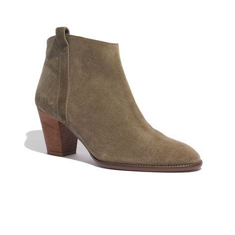 madewell billie boot madewell the billie boot in suede in brown lyst