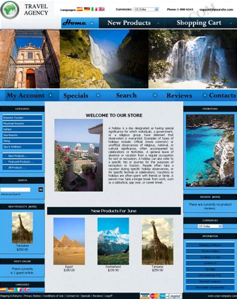 Travel Zencart Templates Free Premium Templates Travel Template