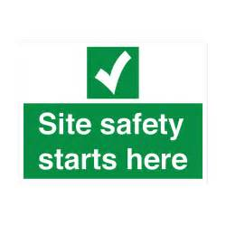 Site safety starts here safety sign mandatory sign from bigdug uk