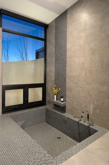 sunken bath build  tub    bathroom floor