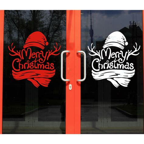 merry christmas window home decor vinyl stickers christmas