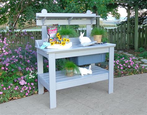 cypress potting bench five yard garden accents to complete your outdoor